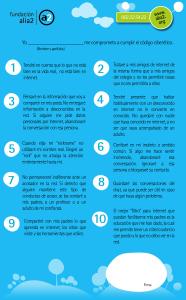 Código Ciberético para niños y Decálogo con consejos de seguridad web para los padres II